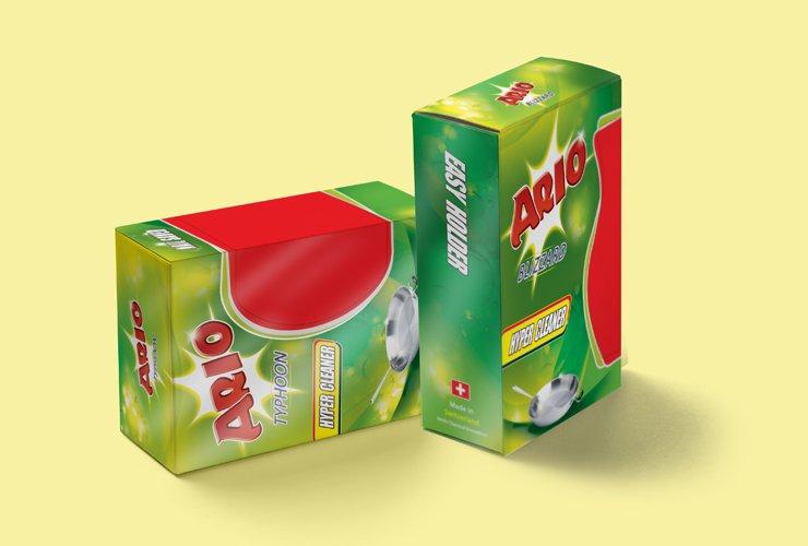 طراحی بسته بندی اسکاچ آریو