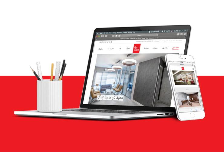 طراحی وبسایت شرکت سهلان